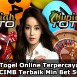 Daftar Togel Online Terpercaya 2020 Bank CIMB Terbaik Min Bet 500 Rp